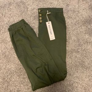 Vanilla Star Army Green Cargo Pants